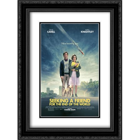 Black History Month Posters (Seeking a Friend for the End of the World 18x24 Double Matted Black Ornate Framed Movie Poster Art)