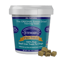 Stewart Pro-Treat Freeze Dried Beef Liver 4 oz. Tub