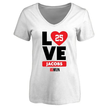 Tramain Jacobs Fanatics Branded Women's I Heart V-Neck T-Shirt - White](Jabot Shirt)