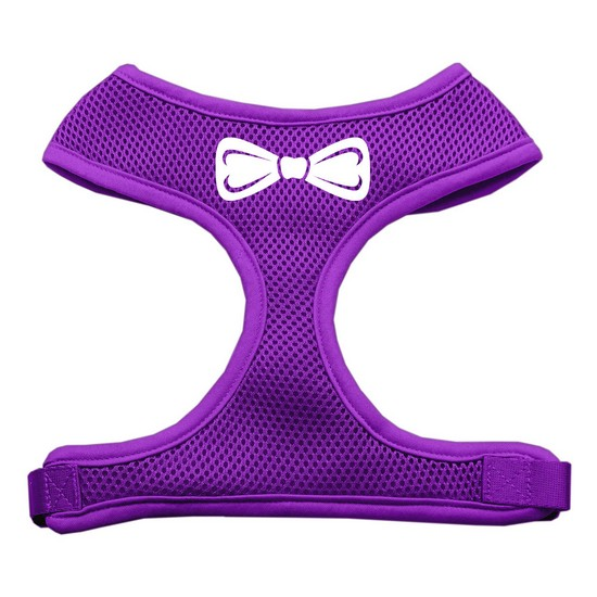 Mirage 70-33 LGPR Bow Tie Soft Mesh Dog Harness Purple Large