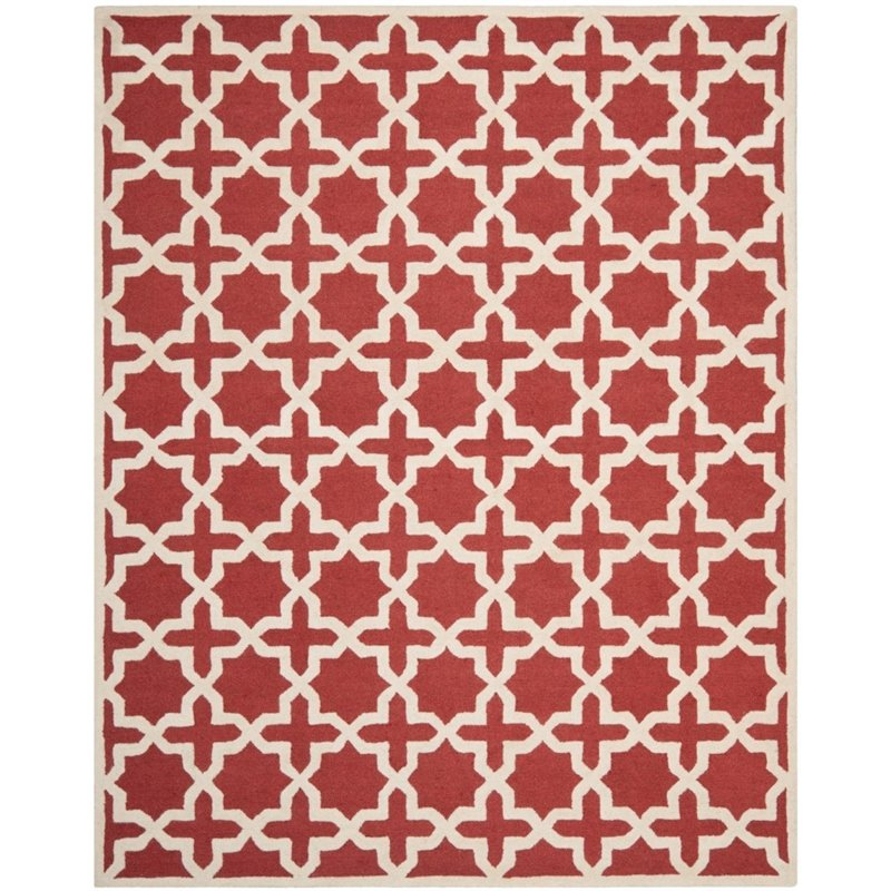 Safavieh Cambridge 3' X 5' Hand Tufted Wool Rug in Rust and Ivory - image 7 de 8
