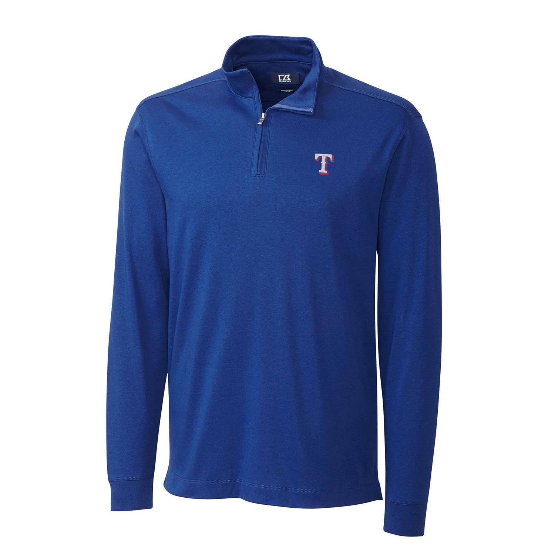 Texas Rangers Cutter & Buck Belfair Half-Zip Pullover Jacket - Royal - S
