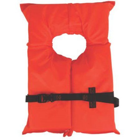 Coleman Stearns Adult Type II Life Jacket, Orange Life Vest Type