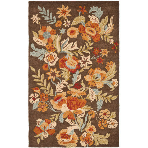 Safavieh Blossom Brown Floral Area Rug