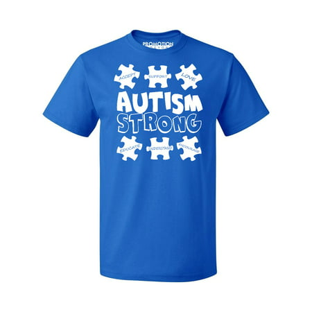 Autism Strong Awareness Support Men's T-shirt, XL,