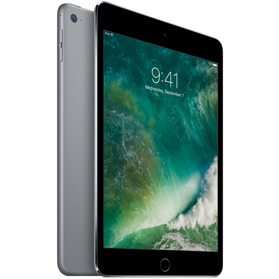 "Refurbished Apple iPad mini 4 with WiFi 7.9"" Touchscreen Tablet Computer Featuring iOS 10 Operating System, Space Gray"