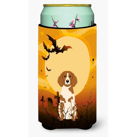 Halloween Brittany Spaniel Tall Boy Beverage Insulator Hugger BB4338TBC
