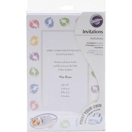 wilton baby shower invitation kit,  ct  walmart, Baby shower