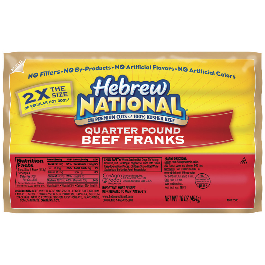 Image Result For Hebrew National Beef Dogs Calories