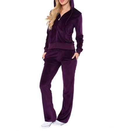 - Women's Athleisure Velour 2 Piece Set