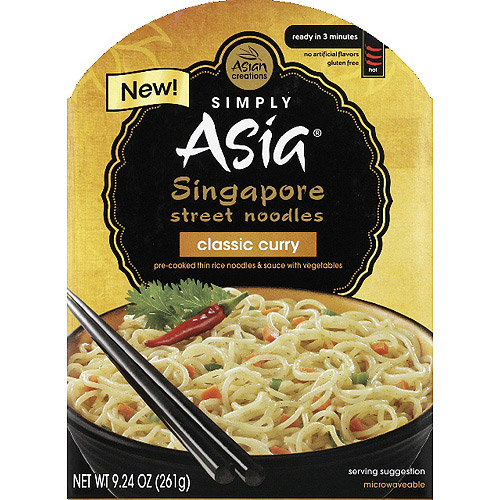 Simply Asia Classic Curry Singapore Street Noodles, 9.24 oz, (Pack of 6)