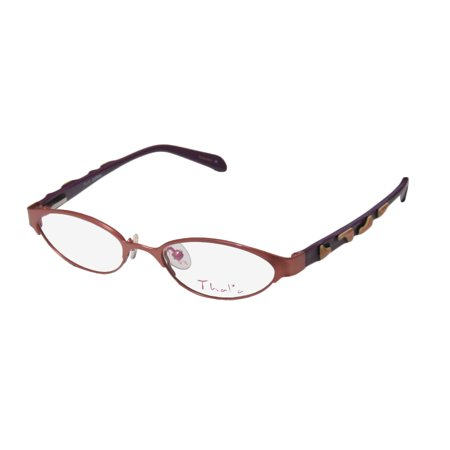 New Thalia Querida Childrens/Kids/Girls Cat Eye Full-Rim Coral Pink / Purple / Peach Stunning Sleek For Girls Teens Cat Eye Frame Demo Lenses 45-16-125 Flexible Hinges Eyeglasses/Glasses](Teen Cat)