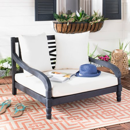 Safavieh Pomona Outdoor Contemporary Lounger with Cushion