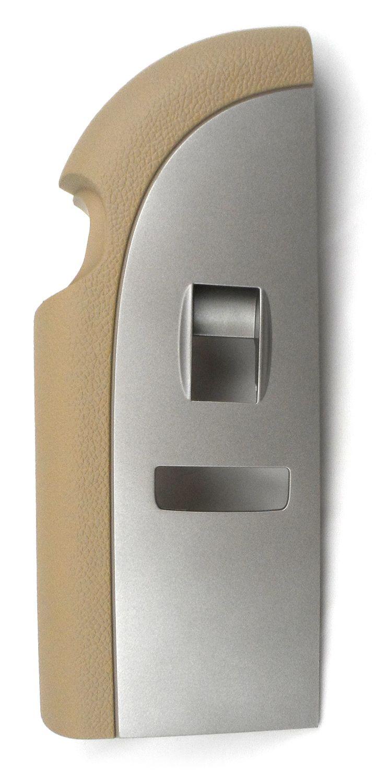 OEM Driver Window Swtch Plate Titanium 07-10 Silverado Sierra 2Dr Manul Fold DL8