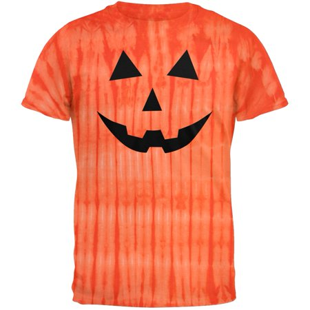 Halloween Jack-O-Lantern Classic Face Tie Dye T-Shirt (Halloween Zipper Face Uk)