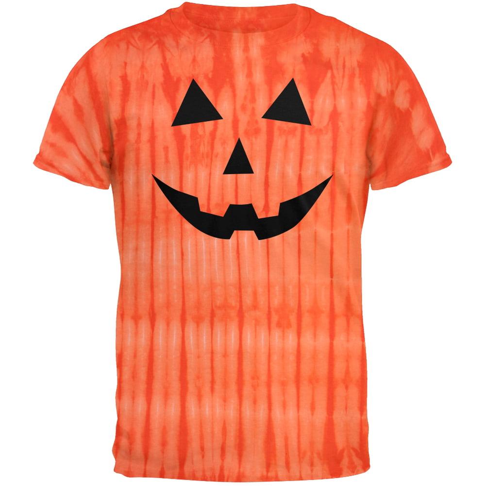 Halloween Jack-O-Lantern Classic Face Tie Dye T-Shirt