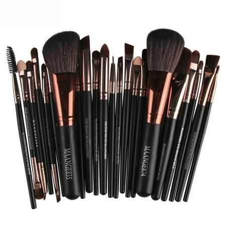 matoen 22pcs Cosmetic Makeup Brush Blusher Eye Shadow Brushes Set Kit Makeup Blusher Brush