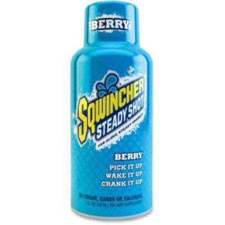 Sqwincher 200502-BE Steady Shot Flavored Energy Drinks - Berry - 2 Fl Oz - Bottle - 12/pack