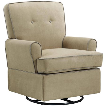Baby Relax Tinsley Swivel Glider Beige (Baby Relax The Tinsley Nursery Glider Chair)