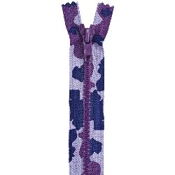"""""""Fashion Camouflage Closed End Zipper 9""""""""-Purple Camouflage"""""""