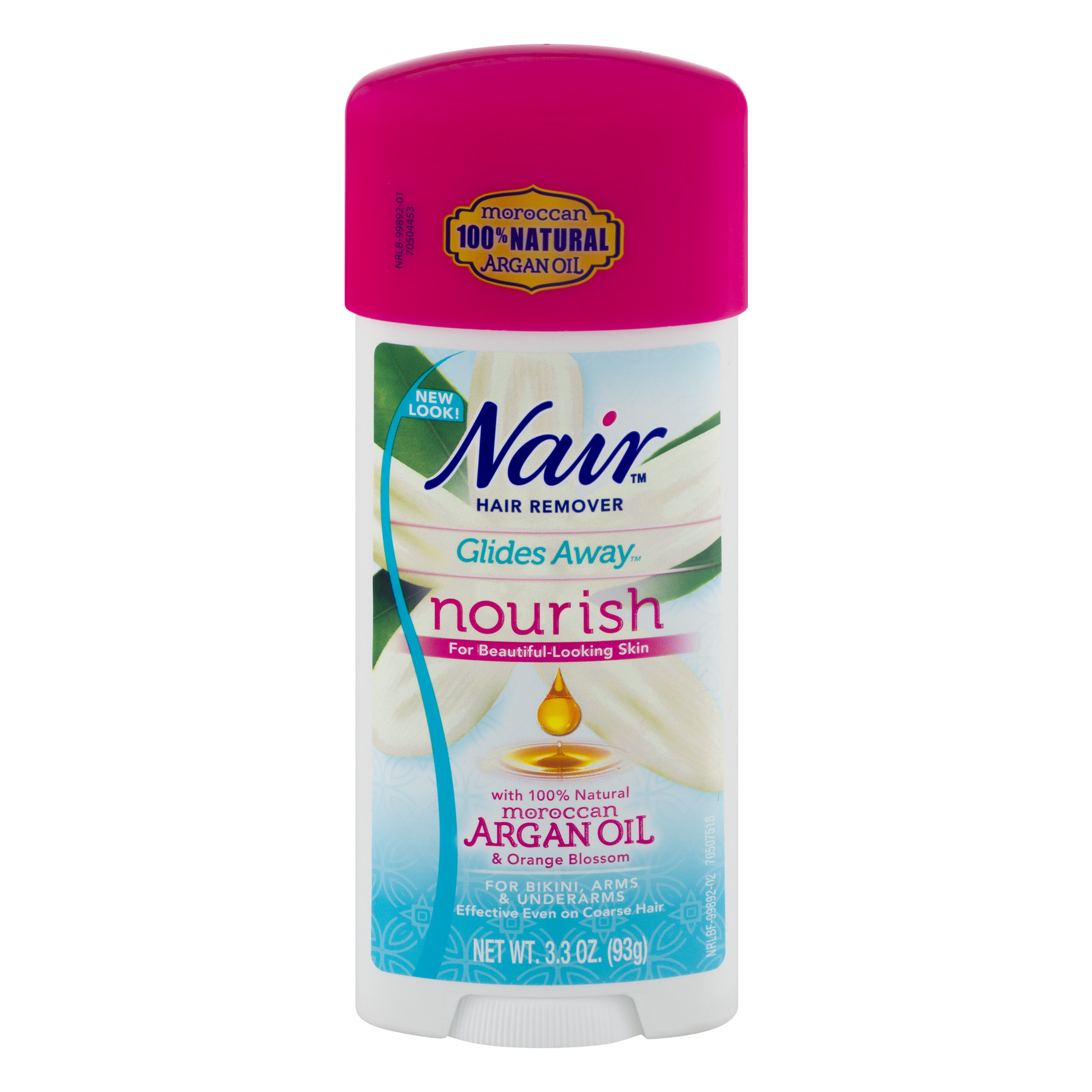 Nair Hair Remover Glides Away for Bikini, Arms & Underarms with Argan Oil, 3.3 OZ