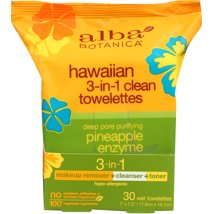 Facial Cleansing Wipes: Alba Botanica Hawaiian 3-In-1 Clean Towelettes