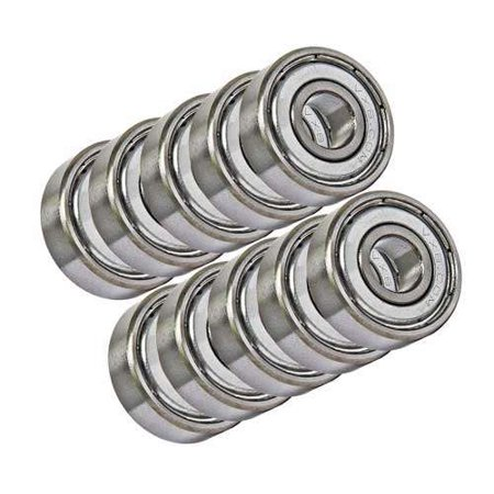10 Unflanged Shielded Slot Car Axle Bearing 1/8