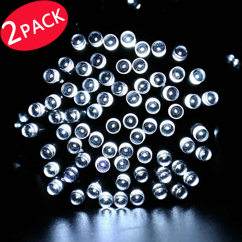 2Pack Qedertek Landscape Solar String Lights, 72ft 200 LED Fairy Decorative Outdoor Garden... by