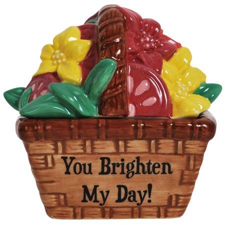 You Brighten my Day Flower Basket Salt and Pepper Shaker 94479 Best Friends