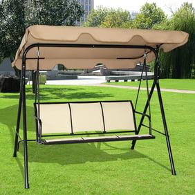 Astounding Palm Springs Garden 3 Seater Hammock Cushioned Swing Chair Outdoor Bench Seat Creativecarmelina Interior Chair Design Creativecarmelinacom