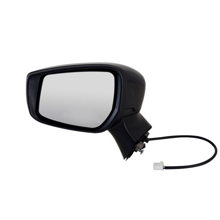 68632N - Fit System Driver Side Mirror for 15-18 Nissan Versa Note Hatchback S, S Plus, SL, SV Model, textured black w/ PTM cover, foldaway, w/o CCD camera,