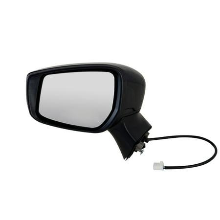 68632N - Fit System Driver Side Mirror for 15-18 Nissan Versa Note Hatchback S, S Plus, SL, SV Model, textured black w/ PTM cover, foldaway, w/o CCD camera, (2015 Nissan Versa Note Sv Hatchback Review)