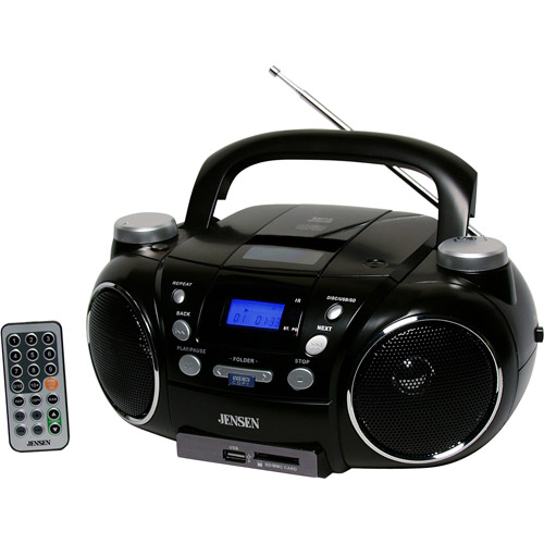 Jensen CD-750 Portable AM FM Stereo CD Player with MP3 Encoder Player by Jensen