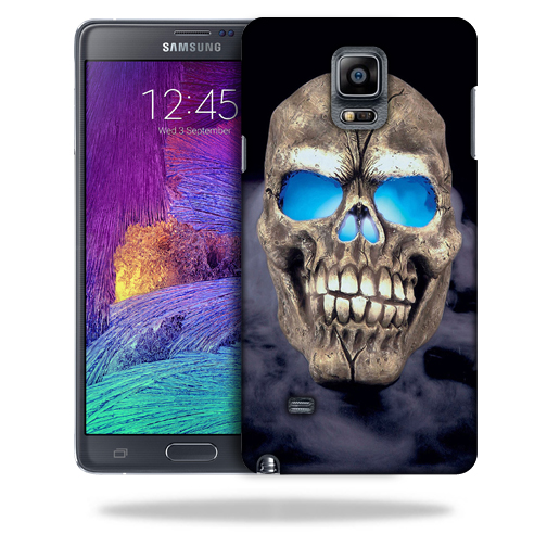 MightySkins Snap-On Protective Hard Case Cover for Samsung Note 4 Psycho Skull