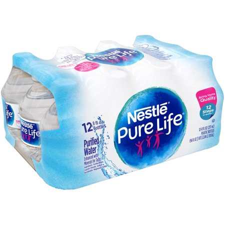 Nestle Pure Life Purified Water  8 Fl Oz  12 Count