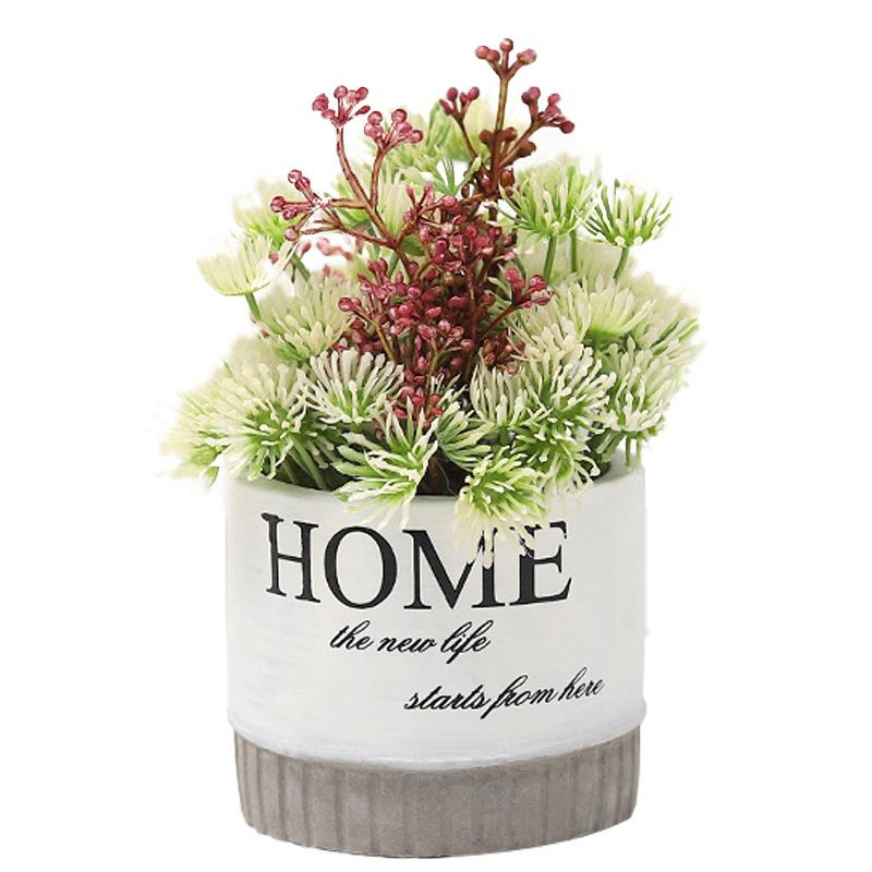Simulation Plant Cement Pot Living Room Decoration Flower Pot Desktop Decoration Artificial Plants In Pots For Home Decor Indoor Walmart Com Walmart Com