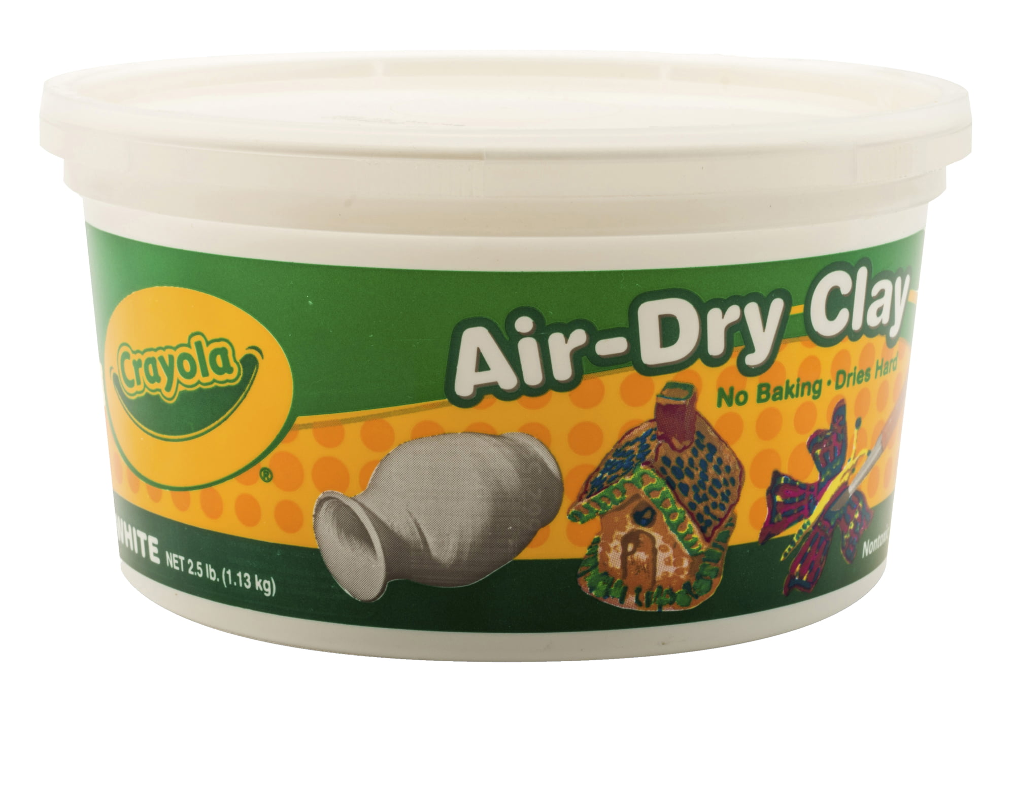 Crayola Air-Dry Easy-to-Use Durable Non-Toxic Self-Hardening Modeling Clay, 5 lb Bucket,... by Crayola LLC
