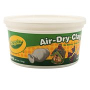 (2 Pack) Crayola Air-Dry Clay, White, 2.5 Lb Resealable Bucket