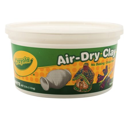 Sculpting Clay (Crayola Air-Dry Clay, White, 2.5 Lb Resealable)