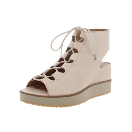 4b98a9c623b8 Andre Assous - Andre Assous Womens Tamsin Leather Lace-Up Wedge Sandals  Beige 7 Medium (B