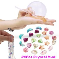 24Pcs Clear Pearl Crystal Mud Slime Plasticine Jelly Clay DIY Relief Stress Toys Kids Children