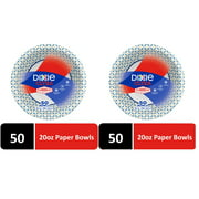 Dixie Ultra Paper Bowls, 20 oz, 50 Count - 2 Pack