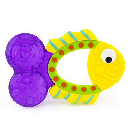 Sassy Teething Tail Fish Teether | Water-Filled Teether Soothes Sore Gums