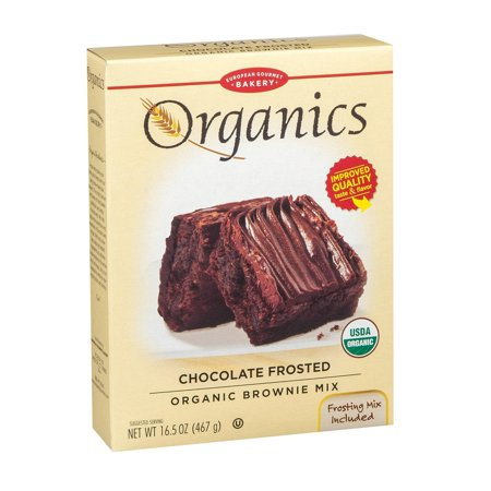European Gourmet Bakery Organic Frosted Brownie Mix - Frosted - pack of 8 - 16.5 Oz.