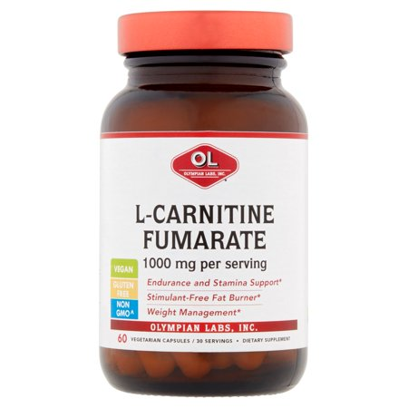 Olympian Labs L-Carnitine Fumarate végétarienne capsules, 1000 mg, 60 count