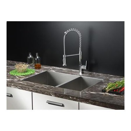 Rvc1611 Stainless Steel Kitchen Sink And Chrome Faucet Set Walmart Com