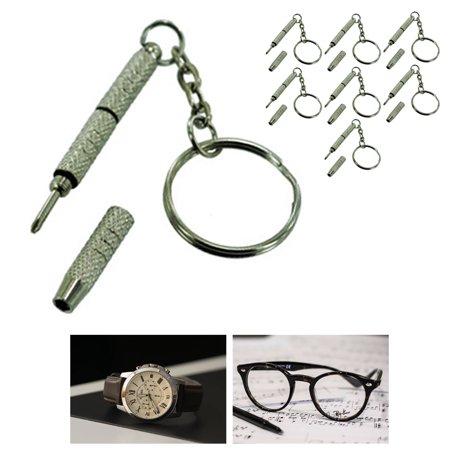 7pc Precision Screwdriver Mini Keychain Sunglasses Eyewear Watch Repair Kit Tool - Mini Watch Keychain
