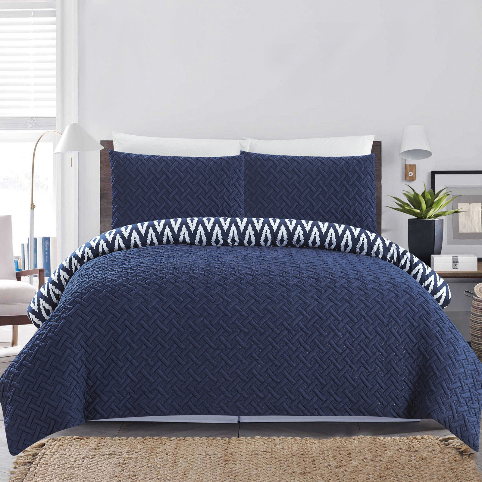 Chic Home Sabina 7 Piece Reversible Comforter Set