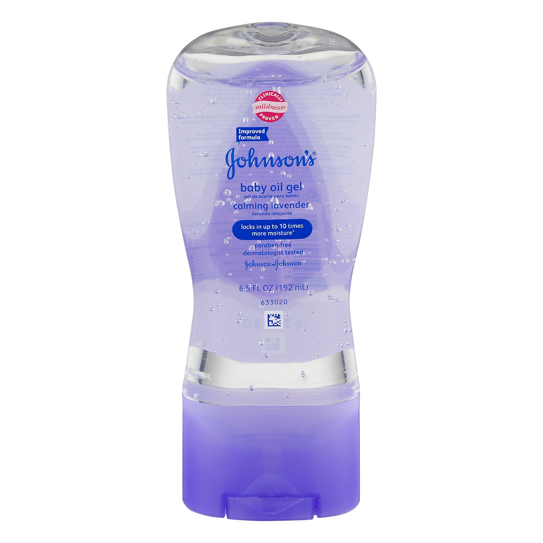 Johnson's Baby Oil Gel Calming Lavender, 6.5 FL OZ
