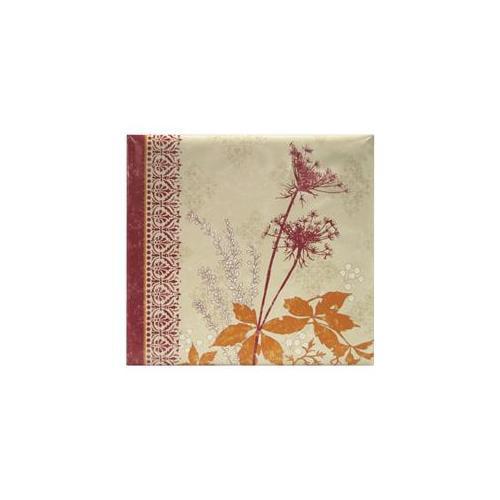 Mbi 866119 Black Cherry Dandelion Postbound Album 12 x 12 Inch